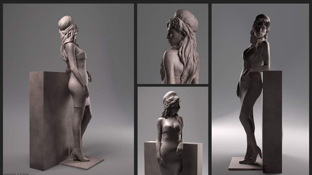 Amy Winehouse statue (Image: Scott Eaton)