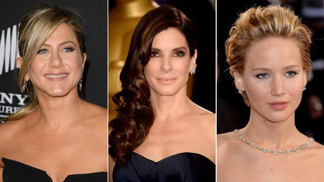 Jennifer Aniston Sandra Bullock And Jennifer Lawrence
