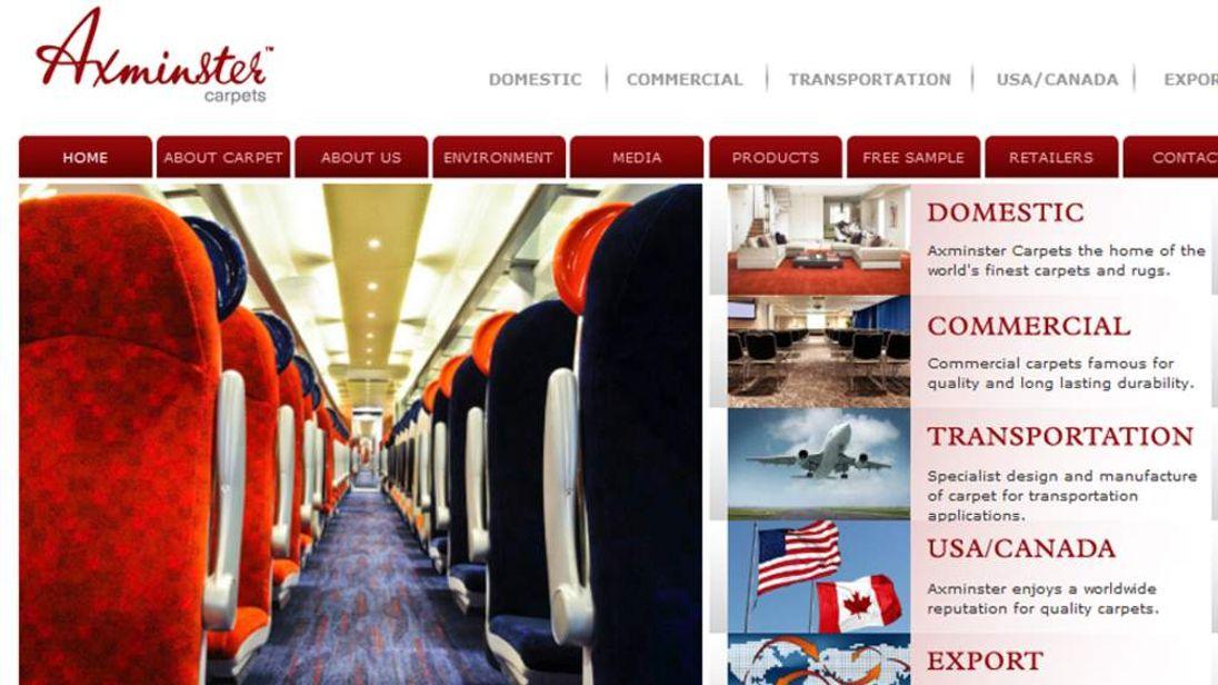 Axminster carpets website
