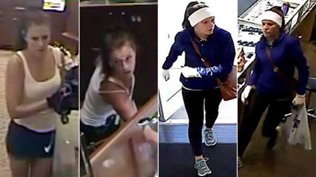 Woman dubbed by media as the Diamond Diva seen in surveillance images