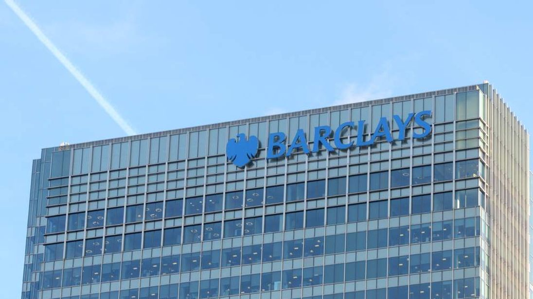 The Barclays building in London's financial district.