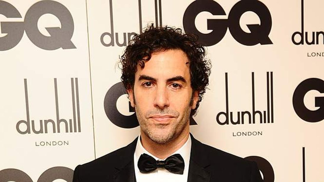 Comedian of the Year Sacha Baron Cohen at the GQ Men Of The Year Awards