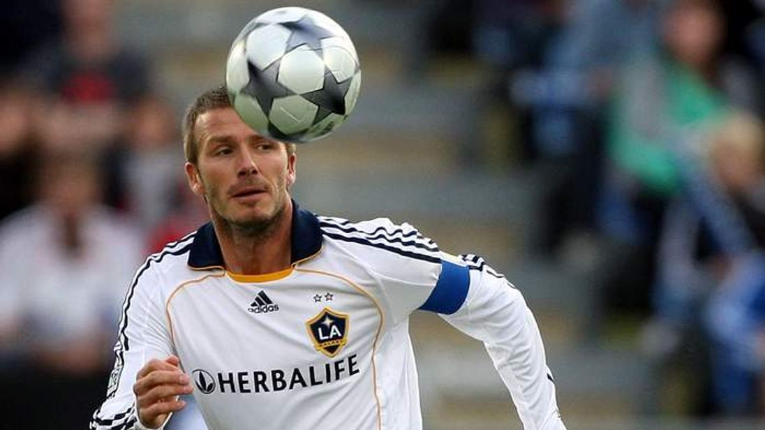 David Beckham of the LA Galaxy in Auckland