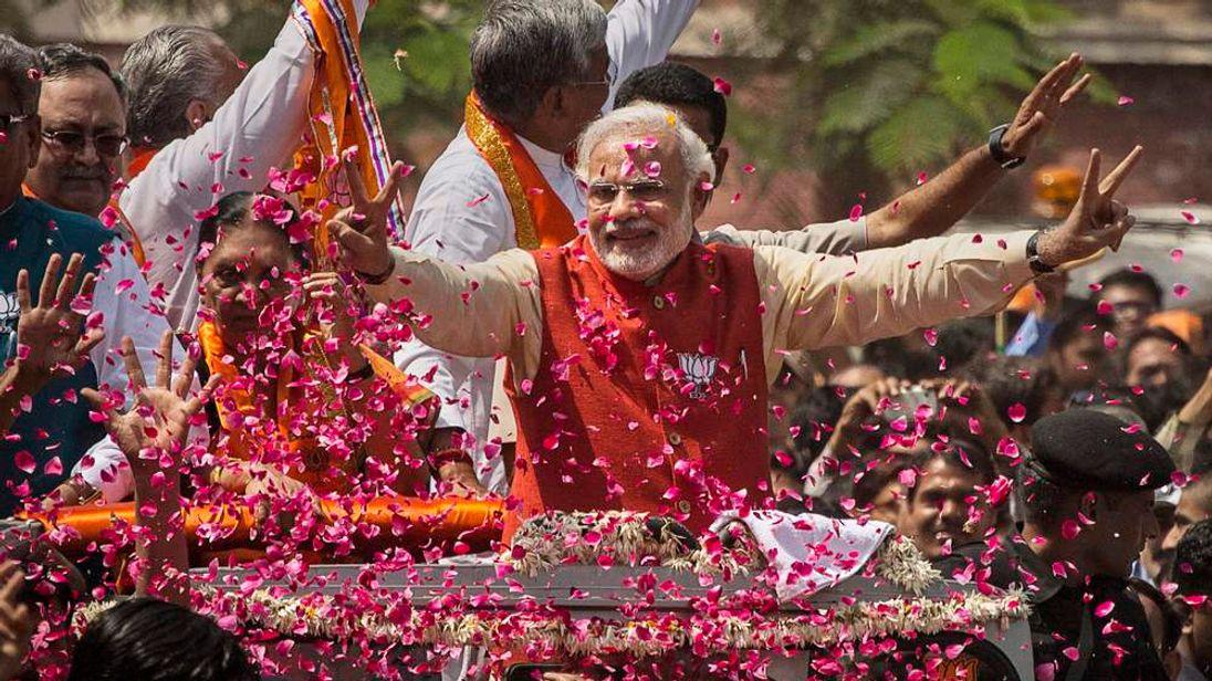 BJP Leader Narendra Modi Campaigns In Gujarat
