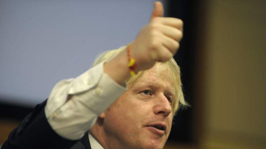 Boris Johnson on visit India