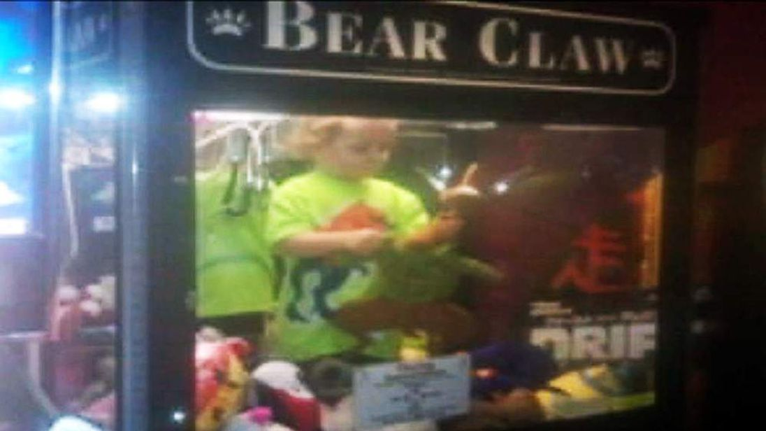 The boy stuck in the claw machine