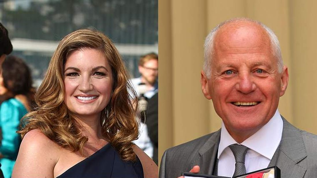 Karren Brady and Michael Cashman