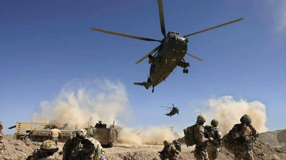 British troops in Afghanistan.