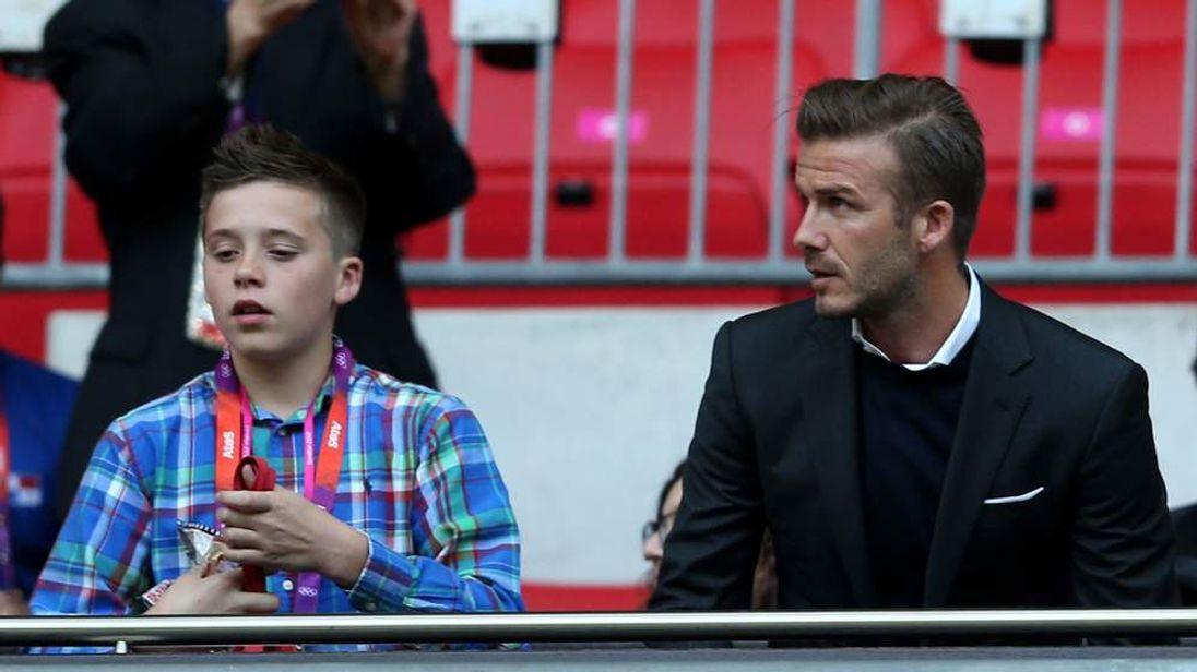 Brooklyn Beckham is as big a football fan as his dad David