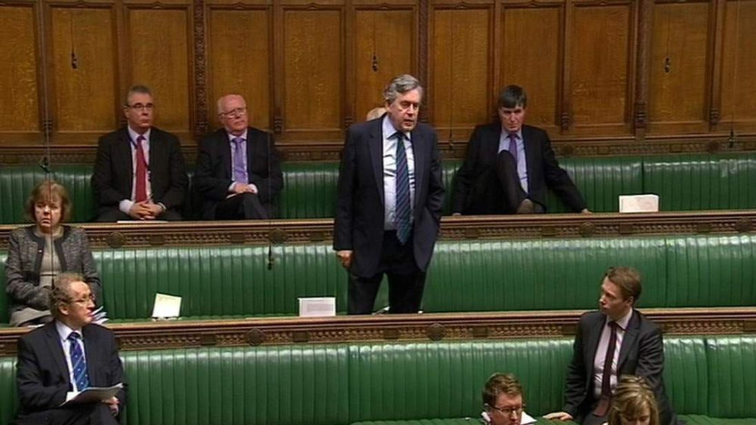 Gordon Brown speaks in Commons