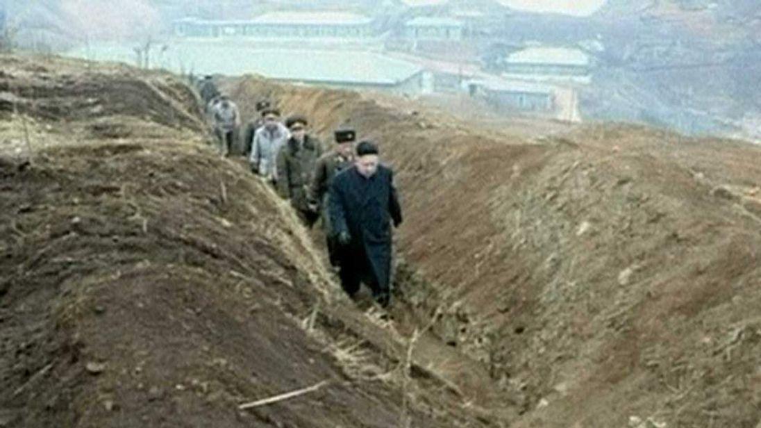 North Korean leader Kim Jong-un visits troops