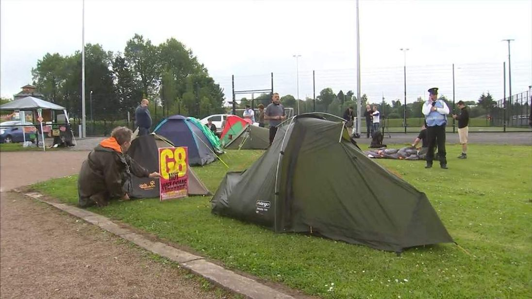 G8 protest camp in Enniskillen, Northern Ireland