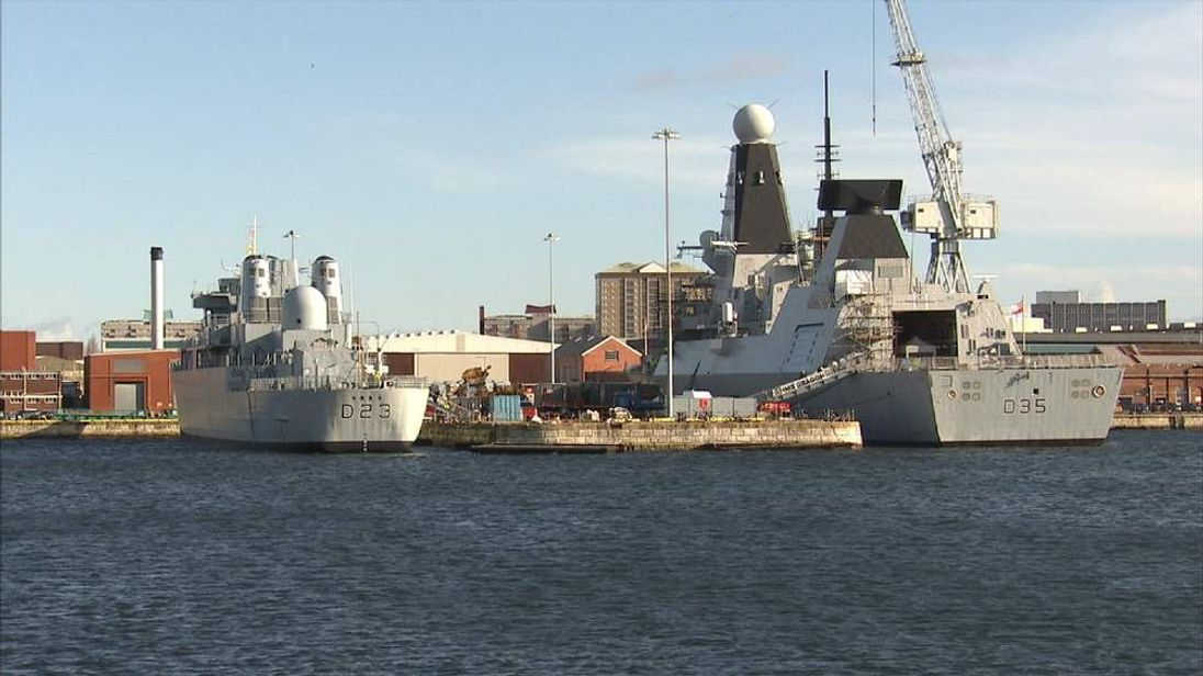Ships in Portsmouth Harbour