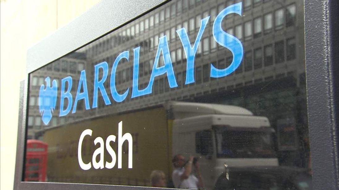 A Barclays cash machine