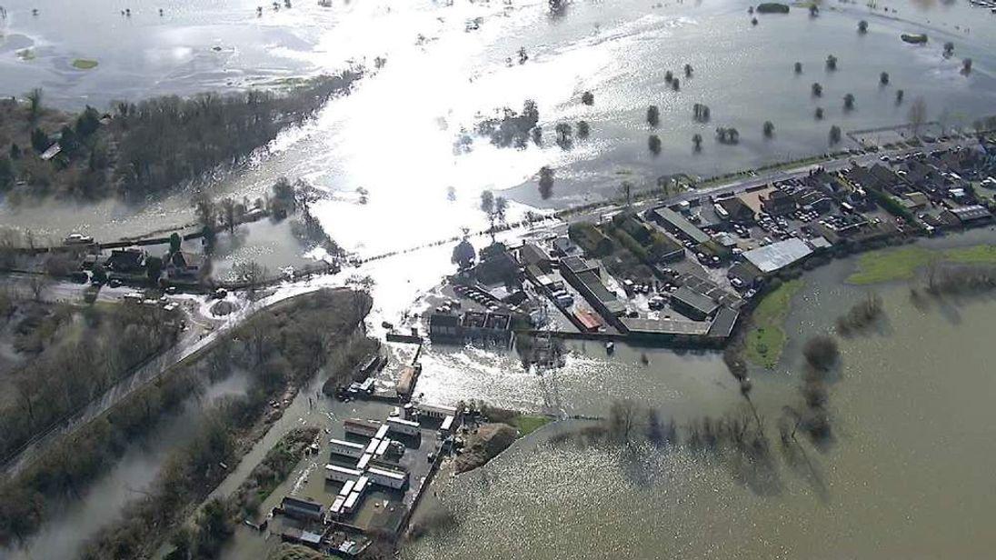 Flooded landscape