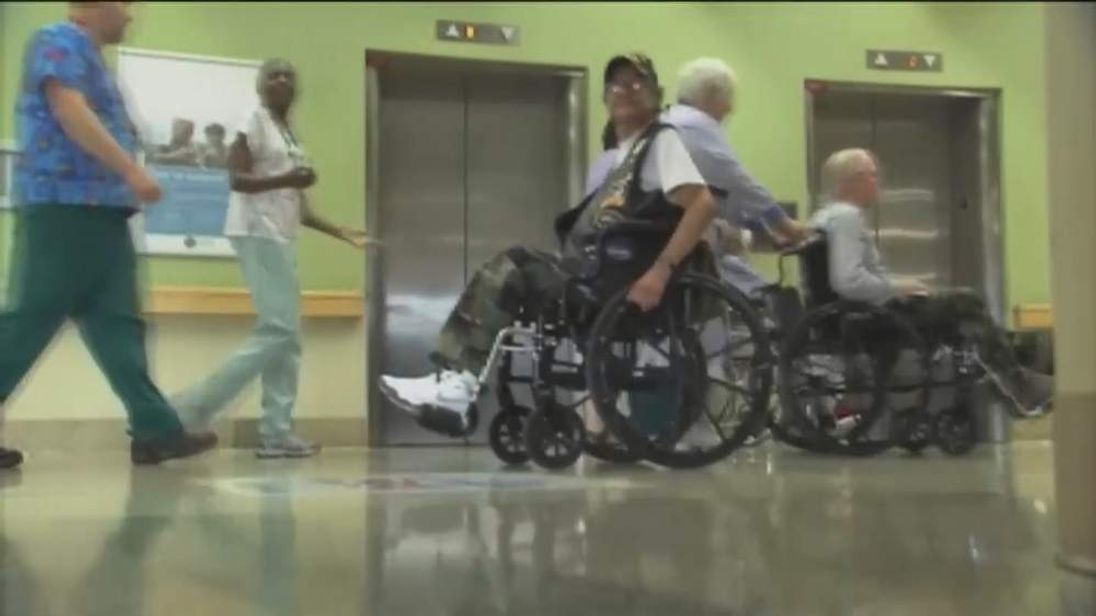 US veterans in hospital