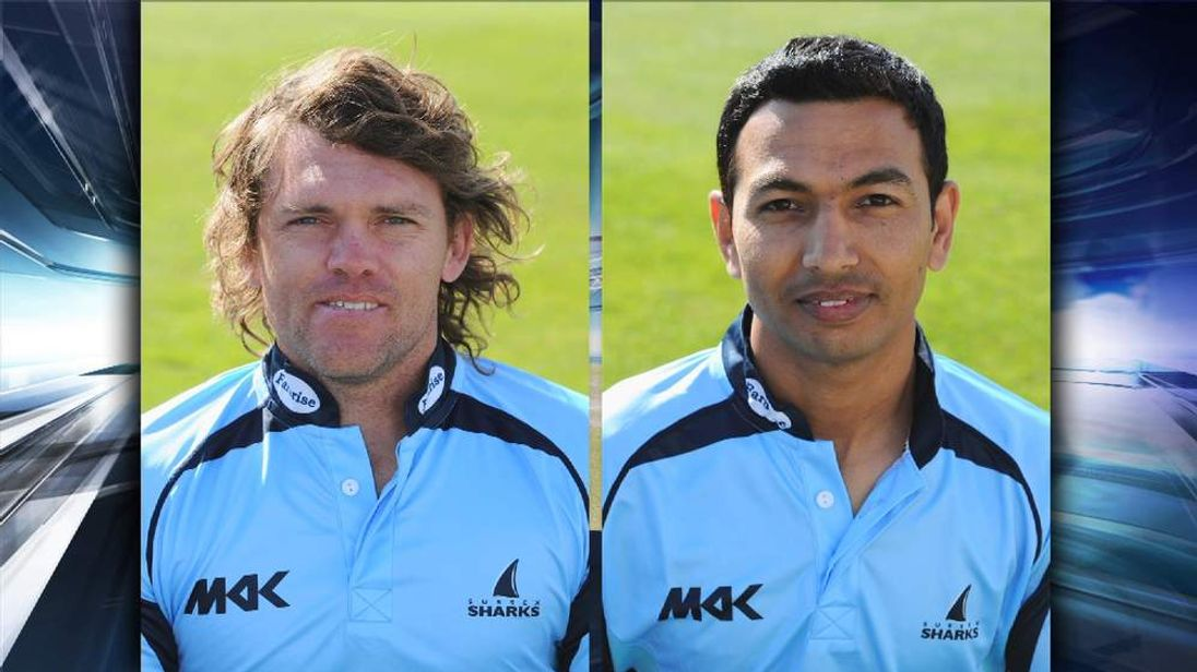 Lou Vincent and former Sussex team-mate Naved Arif