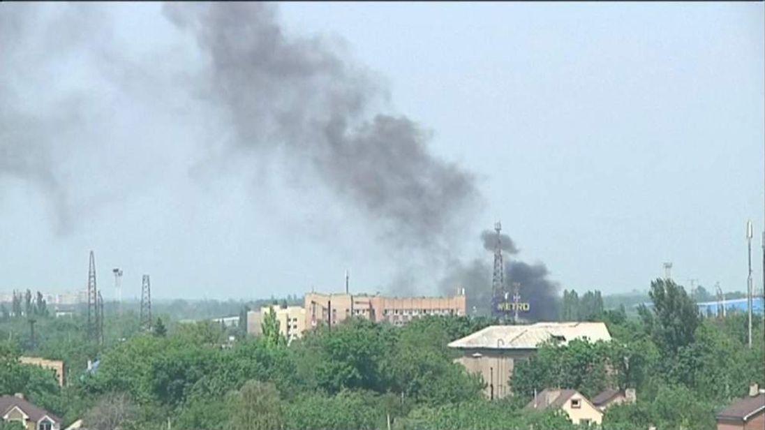 Donetsk airport airstrikes