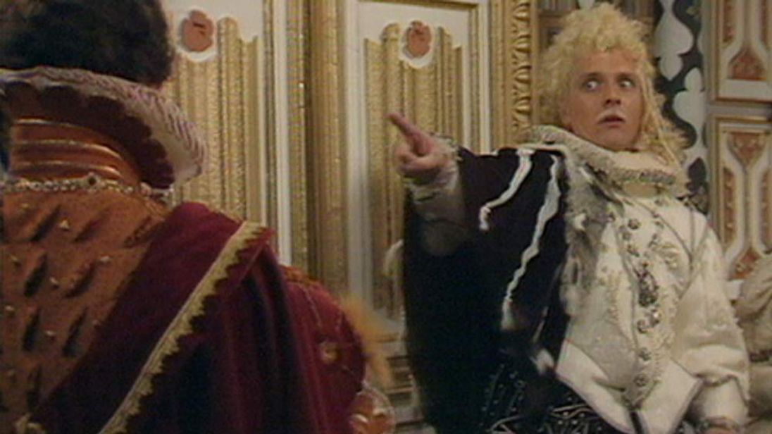Rik Mayall as Lord Flashheart in Blackadder 2. Pic: BBC One