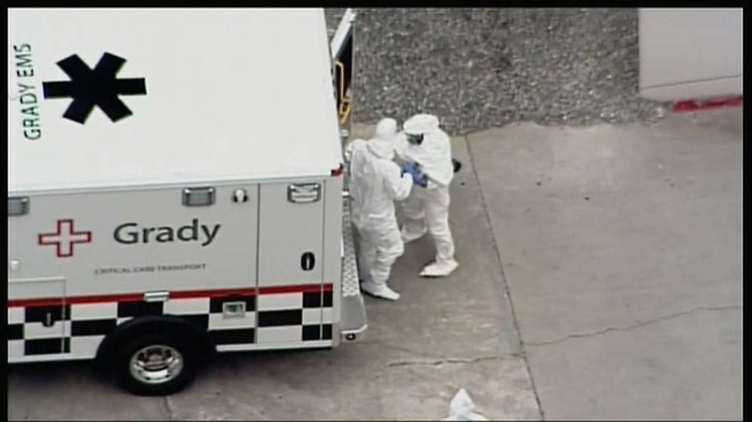 Ebola victim arrives in US