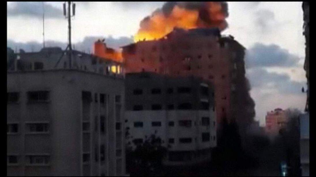 Zafer Tower in Gaza City.