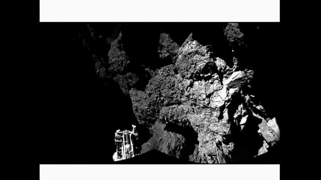 Rosetta space mission Philae sends back first images from surface of comet