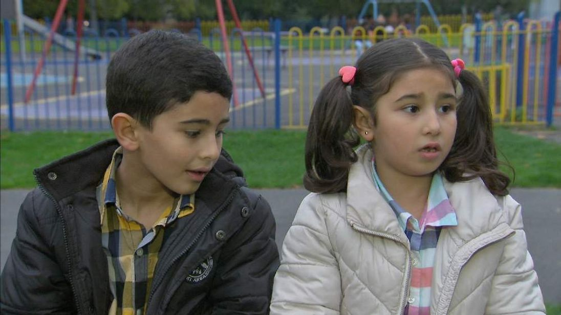 Syria Refugee Children Hussein And Alaa