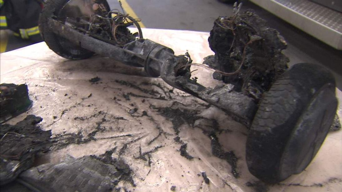 Burnt out hoverboard
