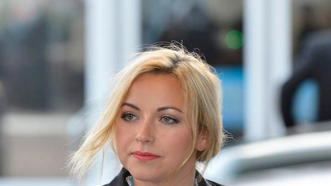 Charlotte Church at the Conservative Party conference in Birminghamin 2012