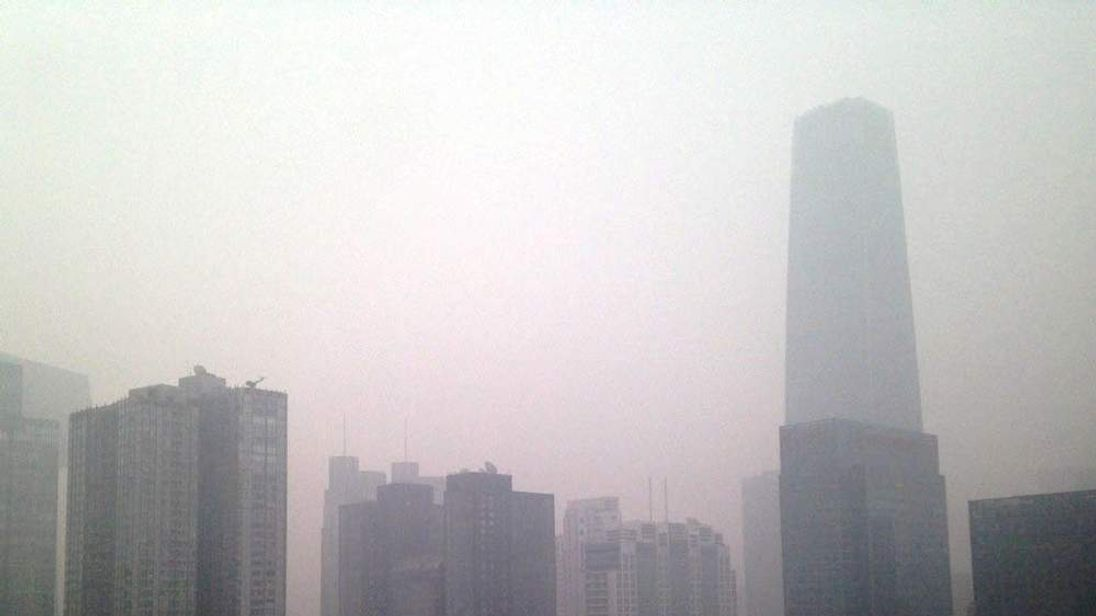 Beijing - in a cloud of pollution