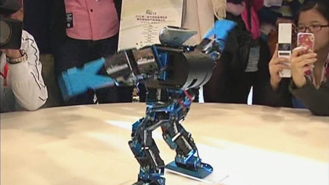 Winner of single dance title at robot competition in China