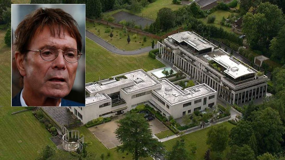 Sir Cliff Richard investigation - composite of singer and Charters Estate