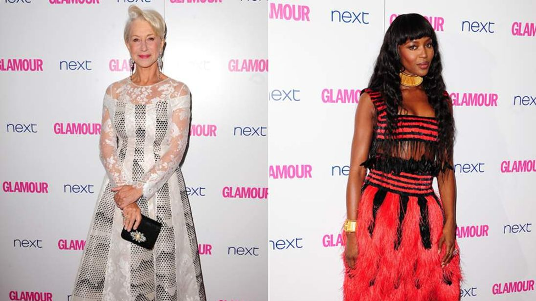Dame Helen Mirren and Naomi Campbell