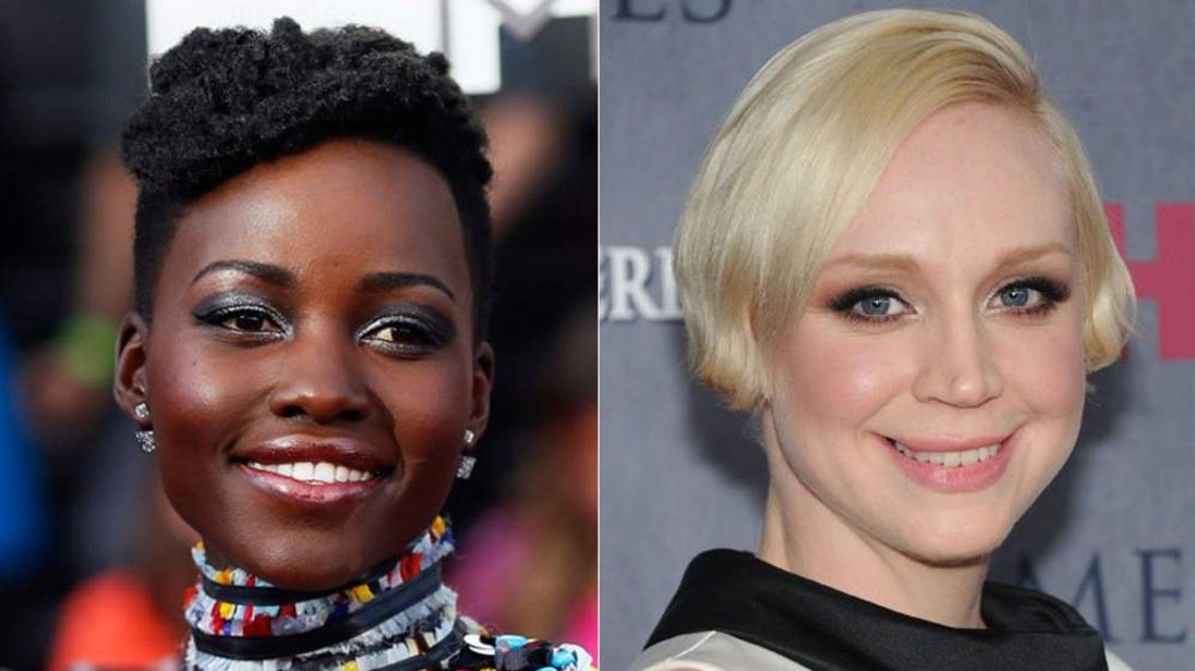 Lupita Nyong'o (L) and Gwendoline Christie
