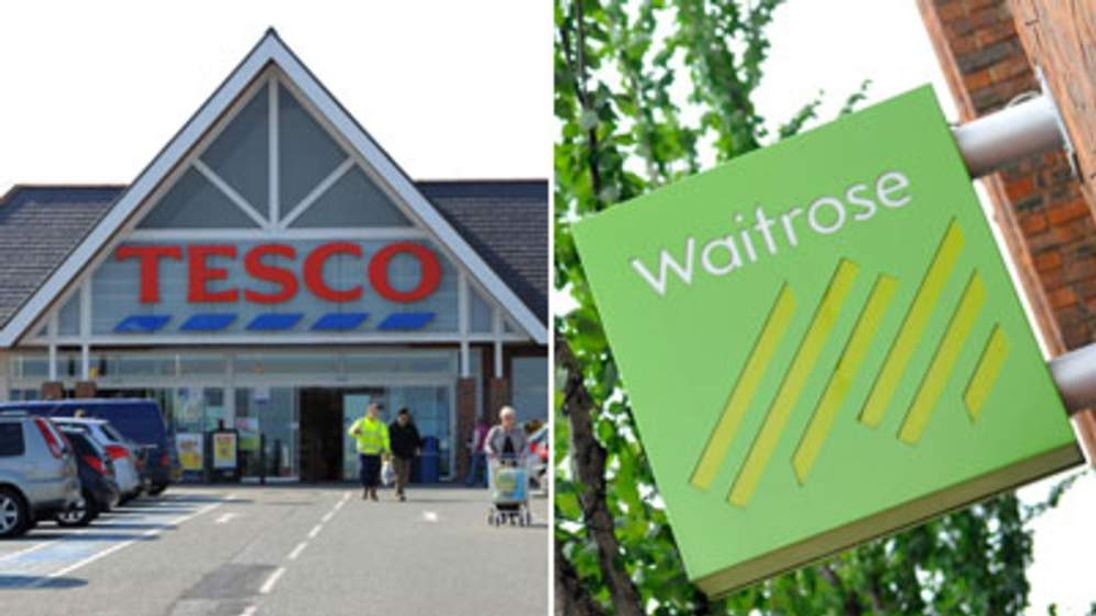Tesco and Waitrose.