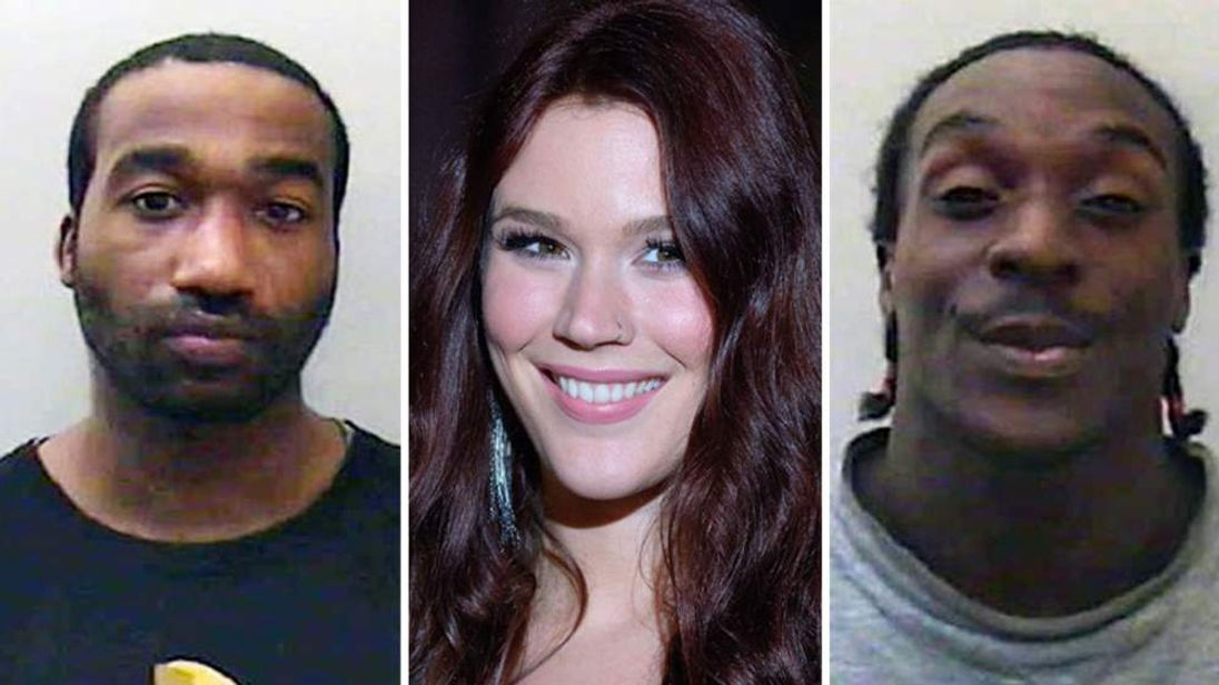 Joss Stone (c) - and Kevin Liverpool (L) and Junior Bradshaw (R)