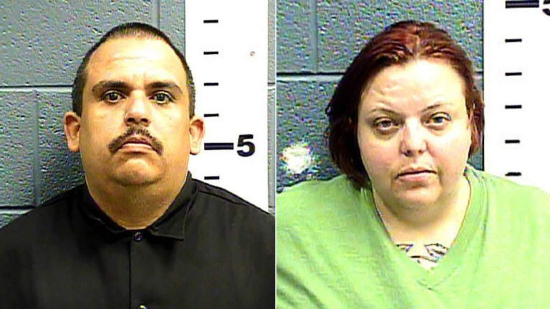 Edmond Gonzales and Cindy Patriarchias have been arrested after a girl of eight was found in a wooden cage.