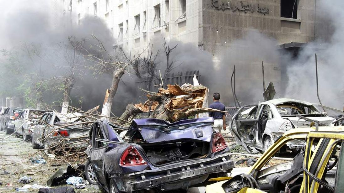 Damascus bomb blast aftermath