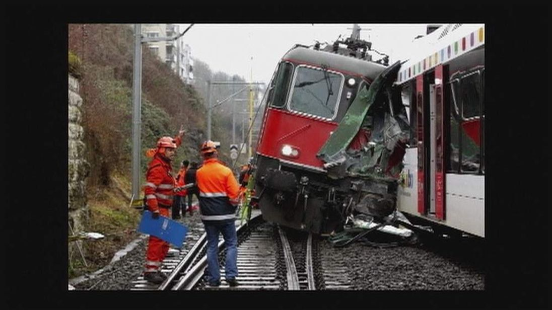 Two Trains Collide In Northern Switzerland