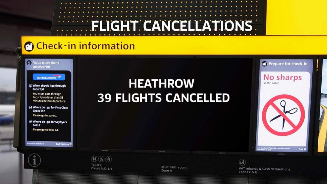 Flight cancellations