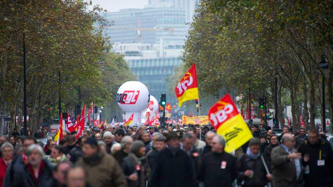 Anti-austerity protests in Paris