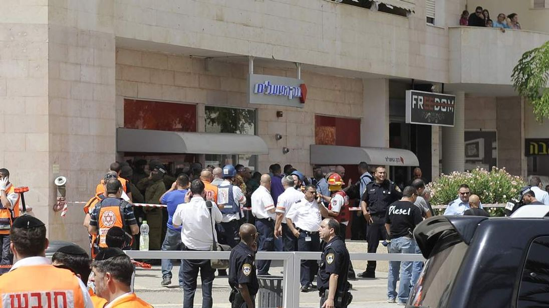 Chaos outside the bank where hostages were held