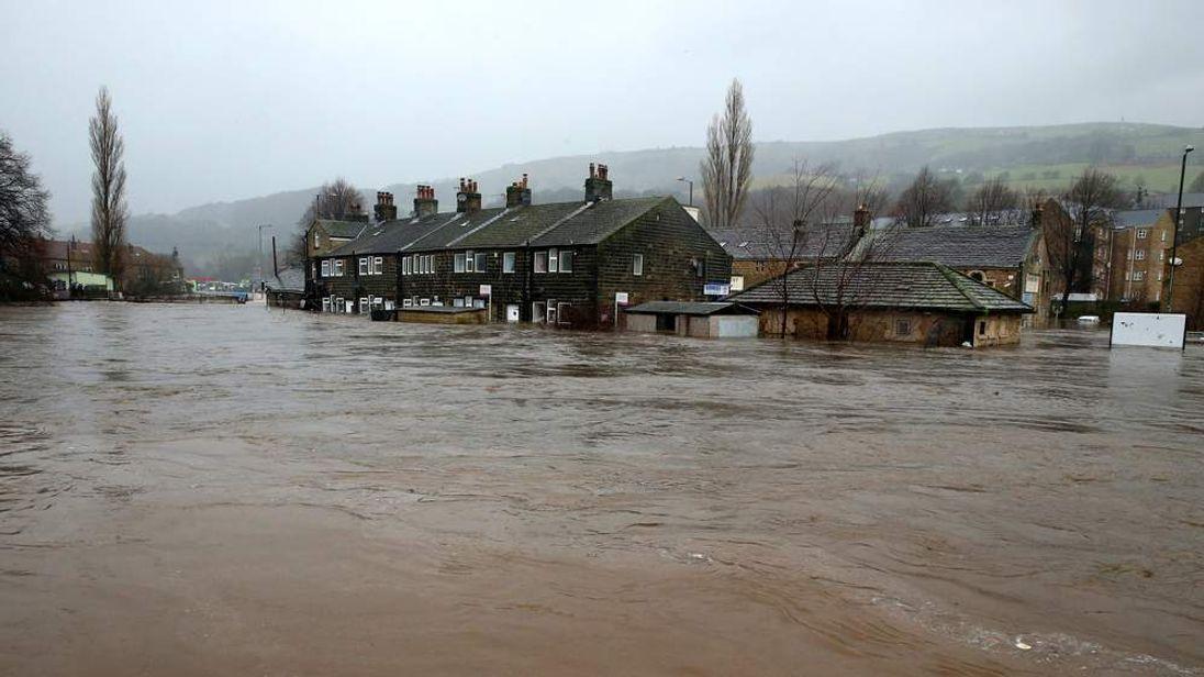 Calder Valley town of Mytholmroyd.