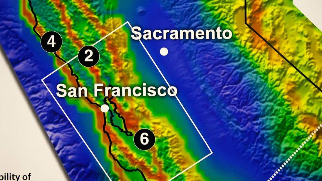 Earthquake faults in California