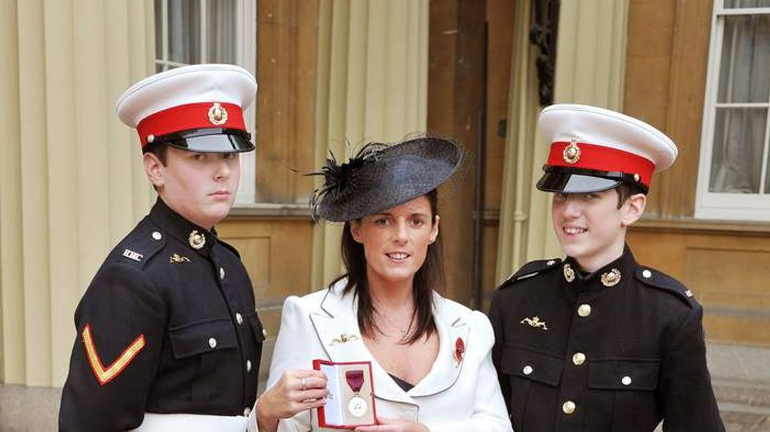 Gillian Molyneux with sons Jamie (left) and Aaron