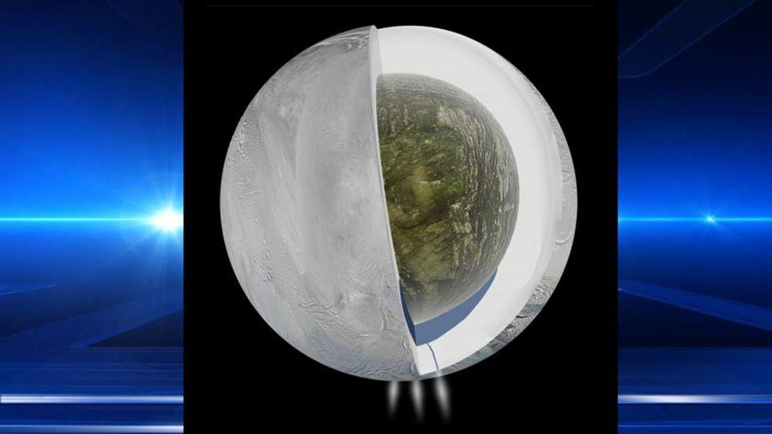 Watery Ocean Found Under Saturn's Enceladus Moon