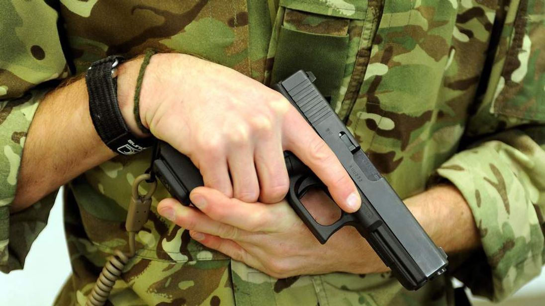 New Glock 17 9mm pistol issued to British Armed Forces