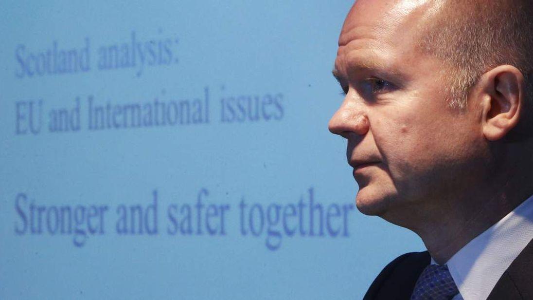 Hague warns of uncertain world