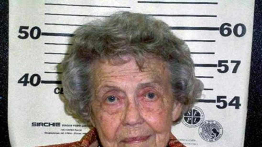 Former mayor Mary Ella Hixon, 91, was convicted of stealing $201,000 from the small Alabama town of River Falls. Photo: Covington County Sheriff's Office