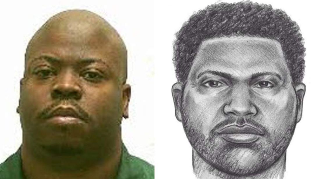 Mugshot pic from NY Dept of Corrections with NYPD suspect sketch